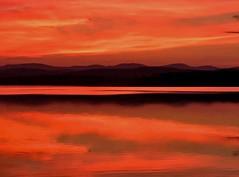 Monet sunrise (SueZinVT) Tags: lakebomoseen suezamecnik sunrise silhouettes canon70d water mountains sky