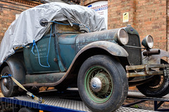 Ford Model A (Sue_Hutton) Tags: cumberlandautocare cumberlandroadtradingestate fordmodela loughborough september2018 autumn motorcar pickuptruck tarpaulin