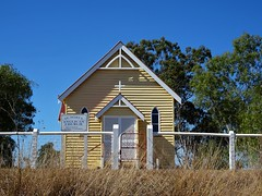 Brooweena. St Marys Anglican Church. Built 1919 or 1920. The World War One War Memorial was outside this church but is now in the town., (denisbin) Tags: bundaberg bank southkolan craters mysterycraters fairymead sugar brooweena church anglican anglicanchurch
