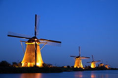 5 windmills in the spotlights (Alex Chirila) Tags: canon 80d efs 15–85mm f35–56 is usm kinderdijk windmill windmills light painting night long exposure