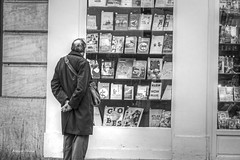 bookstore in Paris-2 (albyn.davis) Tags: paris france europe people street blackandwhite bookstore books store shopping travel contrast