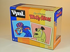 Funko – Vynl. – Hanna Barbera – Wacky Races – Dick Dastardly & Muttley Vinyl Figures Set – 2018 Summer Convention Exclusive – Box Art Back (My Toy Museum) Tags: funko vinyl pop vynl hanna barbera wacky races figure dick dastardly muttley terry thomas dog laughing