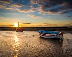 Sunset @ Burnham Over Staithe (Mark Lindstrom) Tags: sunset burnhamoverystaithe water riverburn boat norfolk coast canon5dmkiii canon1635f4 sky sunburst lee filter