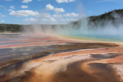 Yellowstone Nal Park Midway Geyser Basin Grand Prismatic spring (mda'skaly) Tags: geyser yellowstone wyoming usalandscapes