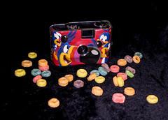 Tasty Photo Shoot (Neal3K) Tags: noveltycamera promotonalcamera advertisingcamera frootloops kelloggs macaw red cereal 35mm
