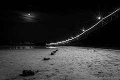 The sands by moonlight...  #beach #sand #nightscape #landscape #moon #lights #darkness #waters #reflections #sea (naomi_uk15) Tags: sand waters moon reflections beach nightscape darkness landscape lights sea