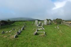 Cashtal yn Ard Ancient Tomb (crashcalloway) Tags: cashtalynard ballaglassglen maughold isleofman manx ellanvannin ancient stoneage neolithic tomb 2000bc mist skies