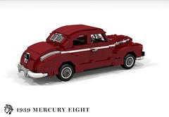 Mercury Eight Club Coupe (1939) (lego911) Tags: mercury for motor company eight 8 1939 1930s classic vintage v8 club coupe usa america auto car moc model miniland lego lego911 ldd render cad povray chrome flathead ford