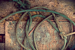 the rope (Rino Alessandrini) Tags: rope woodmaterial backgrounds old plank tiedknot brown closeup nauticalvessel weathered rough rustic nopeople abstract oldfashioned string pattern textured nature material everypixel