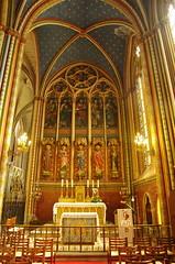 JLF19654 (jlfaurie) Tags: organ organo vitrales hautevienne limousin pentaxk5ii cathédrale vitraux saintetienne limoges mpmdf virgennegra blackvirgin taintedglass jlfr viergenoire mechas