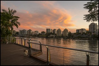 Sunset Cloud over Brisbane River with TOM=