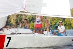 KRYC CUP 2014-4368 (amprophoto) Tags: sail sailing sailingyacht sailboat yachtrace regatta water wind white blue beneteau platu25 peoples sky sport spinnaker fun smile