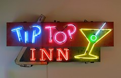 Tip Top Inn Cocktail Sign at the Museum of Neon Art in Glendale, Calif. (hmdavid) Tags: mona museumofneonart glendale california vintage signs tiptop inn cocktails glass neon sign martini