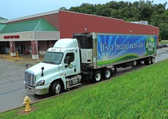 Lehigh Valley Freightliner Daycab Truck (Proto-photos) Tags: diesel white truck rig tandem combination trailer freightliner hauler connellsville pennsylvania daycab delivery lehigh valley dairy milk foods reefer refrigerated