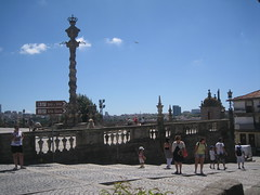 in Porto (VERUSHKA4) Tags: canon europe portugal city porto place square cathedral column colonna balustrade vue view vie ciel summer july travel outdoor summertime cloud stairs blue historic point sign bird day decor