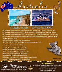 Austrlia Package (Shivam Adventures) Tags: australia sydney goldcoast cairns melbourne bluemountains greenisland seaworld movieworld wetnwild greatoceanroad twelveapostles australiapackage