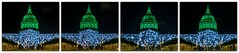 turning heads (pbo31) Tags: sanfrancisco california color night mosaic collage dark black nikon d810 september 2018 summer boury pbo31 civiccenter plaza cityhall green projection film standingmarch globalclimateactionsummit conference art mapping lightcasting dome
