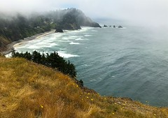 Fog at Cape Meares (rasdiggity) Tags: oregon capemeares pacific fog clouds pacificocean surf waves swells