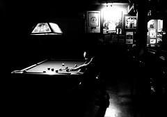 SharpShooter (Book'em) Tags: pool eightball bar tavern bluegoose toronto iphone iphoneography blackandwhite bw contrast etobicoke