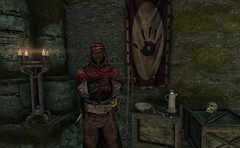 Nazir (Rain Love AMR) Tags: skyrim pc gaming tes theelderscrolls screenshot screencap thedarkbrotherhood redguard theblackhand dawnstarsanctuary assassin