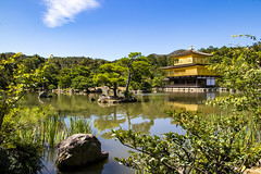 Kinkakuji Temple (Myself more than Synghan) Tags: kinkakuji kinkakujitemple temple buddhist buddhism architecture building exterior pond lake reflection roof eaves skyblue travel destination landmark attraction beautiful photography horizontal outdoor colourimage fragility freshness nopeople foregroundfocus adjustment interesting awe wonder japan kyoto japanese asia oriental deergoldentemple oldstyle tradition traditional nippon religion religious canon eos80d 80d sigma 1770mm f284 dc macro lens 금각사 킨카쿠지 일본 교토 사찰