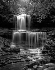 West Milton Cascades 8-18-18 (2 of 2) (rjskwctm78) Tags: 4x5 water waterfall nature kodak ishootfilm
