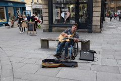 DSC_0028 (richardclarkephotos) Tags: simon john from cornwall guitar busking tour south england bath somerset uk spotty herberts signwriting guitarbitz cafe shops small retailers guildhall marketowl owls minerva