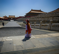 Little Girl in the Forbidden City, China (` Toshio ') Tags: toshio forbiddencity girl dress beijing china chinese asia asian history travel people temple fujixt2 xt2
