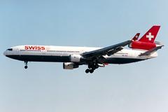 Swiss | McDonnell Douglas MD-11 | HB-IWQ | London Heathrow (Dennis HKG) Tags: aircraft airplane airport plane planespotting staralliance london heathrow egll lhr swiss swissair swr lx md11 mcdonnelldouglas hbiwq