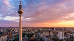 Berlin-Skyline1 (allthingsberlin) Tags: berlin city cityscape europe urbanskyline panoramic germany aerialview summer scenicsnature town tvtower televisiontowerberlin germanculture alexanderplatz buildingexterior centralberlin citylife internationallandmark sky blue nopeople photography tower travel architecture capitalcities citygate cloudsky cloudscape cultures tree vacations builtstructure downtowndistrict famousplace horizontal nationallandmark outdoors tourism