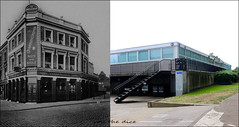 Lismore Circus`1950s-2018 (roll the dice) Tags: london camden belsize gospeloak rough trouble council estate boozer pub publichouse charringtons ale stout beer drinking sad old local history bygone retro architecture streetfurniture vanished demolished canon tourism tourists fashion nhs uk classic art urban england windows oldandnew pastandpresent hereandnow nostalgia comparison tobyale bush steps brewery spirits ornate lights victorian