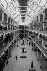 National Museum of Scotland (p.mathias) Tags: museum scotland victorian history edinburgh unitedkingdom interior architecture venetian renaissance gallery hall europe building sony a5100 people atrium window room shop ceiling blackandwhite bw