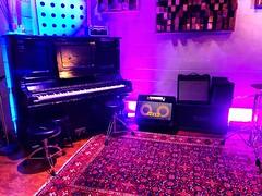 Mood Lighting (Pennan_Brae) Tags: jamming rockandroll amplifier guitaramp musicroom amplifiers musicproducer piano producer musicproduction recordingstudio music recording musicstudio