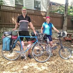 Scottish cycle touring couple (urbanadventureleaguepdx) Tags: biketour biketouring cycletouring bobjacksonbikes biketourists moultonbike