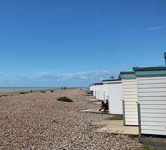 Worthing Sea Front (Waterford_Man) Tags: worthing shingle beach beachhuts sea