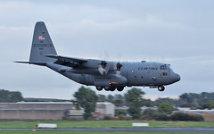usaf missouri air guard c-130h 91-1653 landing at shannon this evening 13/9/18. (FQ350BB (brian buckley)) Tags: usaf missouriang einn 911653 c130h
