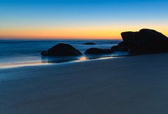 Rocky Blue Hour at the Beach (Merrillie) Tags: daybreak sunrise seashore nature dawn australia surf centralcoast morning weather newsouthwales waves noraville nsw sea beach ocean sky landscape earlymorning coastal waterscape outdoors seascape hargravesbeach coast water seaside