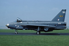 Lightning F3, XR718, 11 Squadron, marked as BK1. (TF102A) Tags: aviation aircraft airplane raf rafbinbrook lightning englishelectric 11squadron kodachrome xr718