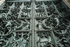 Bronze Doors, Duomo di Milano (dewelch) Tags: academic architecture church college family history italia milan milano screenwritingresearchnetwork srnconference travel university