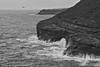 Kauai, Hawaii (Cendrine Marrouat) Tags: kauai hawaii cendrinemarrouat cendrinemarrouatphotography coast ocean landscape water moody blackandwhite blackandwhitephotography waves crashingwaves travel travelphotography