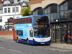 Stagecoach 15176 Chesterfield (Guy Arab UF) Tags: stagecoach east midlands 15176 yn64xtd scania n230ud alexander dennis enviro 400 bus chesterfield new beetwell street derbyshire buses
