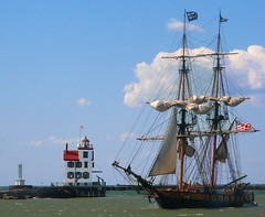Ohio (US Department of State) Tags: brig niagara lighthouse historic harbor lorain ohio lake erie festival