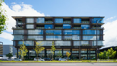 The facade of Kyoto Research Park Building 9 (京都リサーチパークKRP9号館) (christinayan01 (busy)) Tags: perspective facade kyoto japan office
