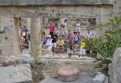 Awesomeness (Adaptabilly) Tags: stone man roman column travel ancient woman camera people tourist efes ephesos turkey ephesus izmir tr lumixg1 greek asia