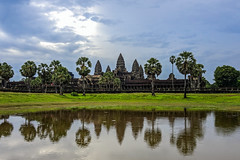 Not quite sunrise over Angkor Wat