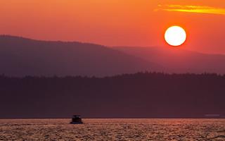 Macaulay Point Smoky Sunset