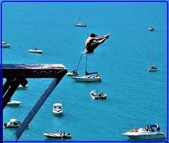 Red Bull Cliff Diving World Series in Sisikon, Switzerland (Ioan BACIVAROV Photography) Tags: redbull cliffdiving sisikon switzerland water boat lucernelake blue sport risk danger