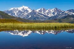 Reflet du Mont Blanc  (Beaufortin * Savoie 08/2018) (gerardcarron) Tags: beaufortin calme canon80d ciel landscape lake lessaisies montagne mountains paysage mtblanc