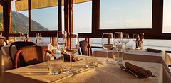 Summer Sunset (cosenzamarco) Tags: sea restaurant glasses beautiful view dinner sunset summer
