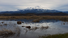 I like the dreams of the future better than the history of the past… (ferpectshotz) Tags: mtshasta california cascaderange activevolcano reflections peak storm northerncalifornia morning sunrise